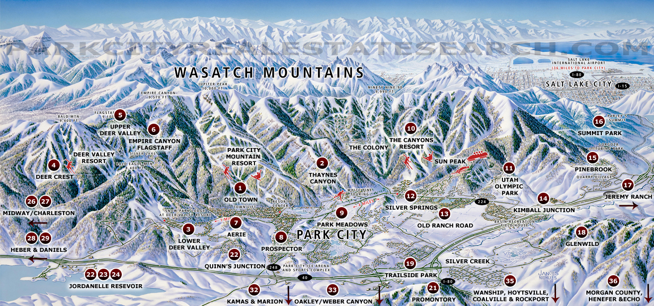 Park City Utah MLS Area Map