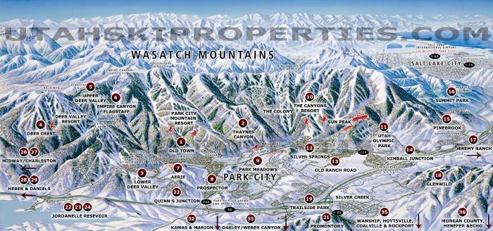 Map Of Park City Utah Park City Utah Maps   Real Estate Maps   MLS Areas